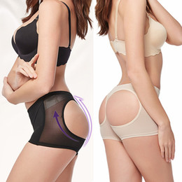 Wholesale Print Control - Women Sexy Butt Lifter Mesh See Through Butt Enhancer Tummy Control Butt Shaper Ladies Booty Panties Boyshort Underwear