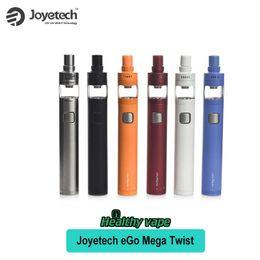 Wholesale Mega Yellow - Origianal Joyetech eGo Mega Twist+ Kit VW BYPASS Mode 2300mAh Battery 4ml Atomizer Capacity Vs CUBIS Pro Atomizer