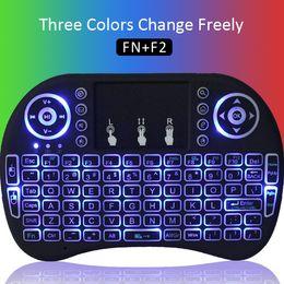 Wholesale Mini Portable Wireless Keyboard - i8 Backlight Touchpad 2.4G Mini Wireless Airfly Touchpad Keyboard & Mouse Combo Multi-media Portable Handheld Keyboard Airfly Mouse Keyboard
