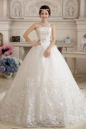 Wholesale Sweet Princess Strapless Embroidery - Vestido De Noiva 2017 Hot Sale Handmade Embroidery Wedding Dress Sweet Romantic Lace Princess Luxury Brides Gowns
