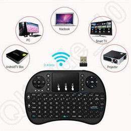 Wholesale Wireless Keyboard Mini Smartphone - Air Mouse Combo 2.4G Mini i8 Wireless Touchpa Keyboard for PC Pad Google Andriod TV Box Xbox360 PS3 Smartphone CCA5393 20pcs