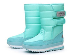 Wholesale Ups Shipping Tubes - Wholesale-Free Shipping Women Winter Boots 2016 New SAKURA In genuine heavy-bottomed tube warm snow shoes waterproof non-slip snow boots
