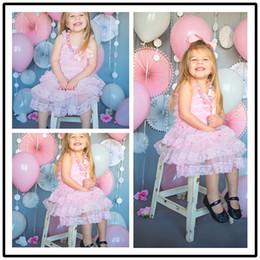 Wholesale Ruffle Petti Dress - Baby girls petti dress Princess party dress lace & chiffon dresses ruffled baby girls dress for 0-8years 8colors 4size