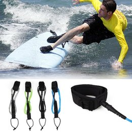 Wholesale Stand Up Paddling - Surfboard Leash Stand UP TPU Surfing Paddle Board Straight Foot Rope 6ft 5.5mm
