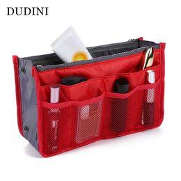 Wholesale B Cosmetic Bag - Wholesale- Cosmetic Bag in Bag,Double Zipper Portable Multifunctional Travel Pockets Handbag Storage Bag,Fadish Travel Organizer Makeup B