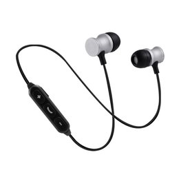 Wholesale Ip Earphone - Wireless Bluetooth Magnetic Metal Earphone Sports Running Android IP General Fashion Gift Bluetooth Headset For Universal