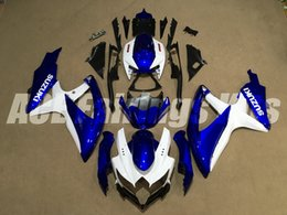 Wholesale Blue Fairing Kit For Suzuki - New Complete Injection Mold ABS Fairing Kits Fit For Suzuki GSXR 600-750 GSXR 750 600 K8 2008 2009 2010 08 09 10 Fairings set blue white