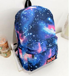 Wholesale ladies female man shoulder bag shoulder bag Oxford printing Galaxy Stars School Rucksack Girls Boys Sky Campus student Backpack