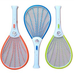 Wholesale Rechargeable Fly Swatter - Hot Mosquito Nets Swatter Bug Insect Electric Fly Zapper Killer Racket Rechargeable With LED Flashlight Household Sundries Pest Control