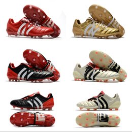 Wholesale Gold Ace - 2018 Wholesale Adidas Predator Mania ACE 17+ Purecontrol Champagne FG Soccer Boots Football Boots White Core Mens Cleats Shoes Size 39-46