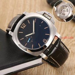 Wholesale Power Reserve - 2017 Super Luxury Top 3Day 3 Day 1950 Black 321 00321 321 GMT POWER RESERVE Mens Men's Automatic mechanical swiss Watches