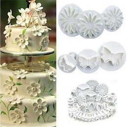 Wholesale Decorating Sets - New 10sets Flower Leaf Shapes 33pcs Sugarcraft Plungers Cutters rolling pin Cake Decorating Tools cookies molds