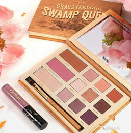 Wholesale Full Queen Size - Dropshipping Tarte eyeshadow palette eye shadow Swamp Queen in Bloom Clay Palette 12 Colors Eye Shadow with brush