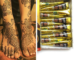 Argentina Negro Natural Indian Henna Tattoo Pasta para Body Drawing Black Henna Tattoos Arte corporal Pintura de Alta Calidad 25g Suministro