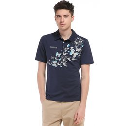 Wholesale Polo Shirt Cool - Brand New Men's Polo Shirt Men Butterfly Printing Cool Short Sports Polo Jerseys golftennis Plus Size Camisa Polos Homme J170515
