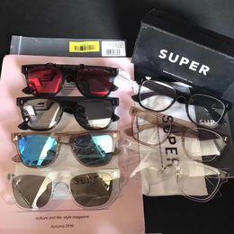 Wholesale Deep Frames - Brand Retrosuperfuture   Super Sunglasses Classic Sunglasses Deep Grey Trans Sunglass Fashion Designer Sunglasses New with Case