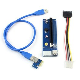 Wholesale Pci Laptop - PCI-E 1X to 16X Extension Cable PCIE USB3.0 Mining Adapter Card Extension Cable for Transfer Card Graphics Card Q21534
