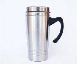 Wholesale High Quality Thermos - Wholesale High Quality 450ml Stainless Steel Thermos Mug Travel Car Mugs Coffee Tea Espresso Cups Thermocup