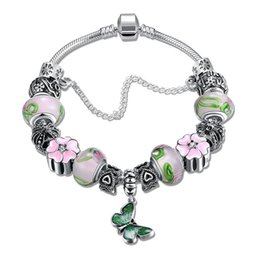 Wholesale Murano Crystal Glass Beads - Mix Order Beaded Charms DIY Bracelet Bangle Silver Plated Snake Chains with Colorful Murano Glass & Crystal European Beads for Girl Women