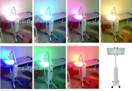 Wholesale Photon Led Pdt - Powerful PDT light therapy LED machine for wrinkle and acne removal 7 color photon led skin rejuvenation
