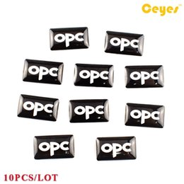 Wholesale Opel Accessories - Car Decals Personalized Epoxy car logo sticker Auto Funny Decor Accessories Plastic Drop Stickers for Opel OPC Logo Car Styling 10PCS LOT
