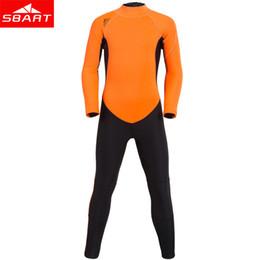 Wholesale Swimwear Girl Sunscreen - SBART New 2mm Neoprene Kids Wetsuit Swimwear One-piece Long Sleeved Dive Surfing Swim Wear boys and Girls Sunscreen diving suits