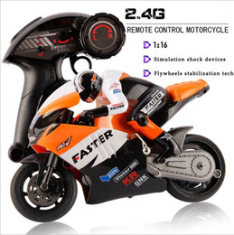 Wholesale Selling Radio Control Toys - Wholesale-Hot Selling JXD 806 RC Remote Control Motorcycle 1 16 Scale 4CH 2.4G Boys Electric Toys Radio Children Gift moto