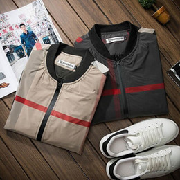 Wholesale Slim Draped Women - Wholesale- Men Spring Autumn Jackets for men and Women Jacket Slim Mens Brand Clothing Outerwear thin Jacket CHOLYL