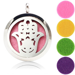Wholesale Magnetic Jewellery - DIY Stainless Steel Aromatherapy Lockets Jewellery Aum Om Magnetic Lockets Essential Oil Diffuser Necklace Perfume Lockets