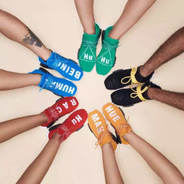 Wholesale Cheap Training Tables - 2017 New Human Race Pharrell Williams X NMD Sports Running sneakers women Cheap top Athletic mens Outdoor Boost Training Sneaker Shoes