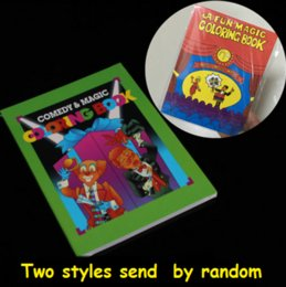 Wholesale Puzzles Tricks - Wholesale- Free Shipping Small Size Funny Coloring Book Comedy Magic Books Close-up Street Magic Tricks Grimoire Spellbook Child Puzzle Toy