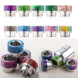Wholesale Steel Drip Tips - New Arrival Kennedy Griffin GOON 528 Mad Dog RDA TFV8 TFV12 Epoxy Resin Stainless Steel Drip Tips with Retail Box e cigs