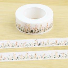 Wholesale Flowering Shrubs - Wholesale- 2016 Flowering Shrubs Decorative Washi Tape Diy Scrapbooking Masking Tape School Office Supply Escolar Papelaria