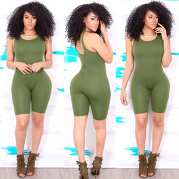 Wholesale Womens Short Romper Jumpsuit - 2017 summer womens sports jumpsuits running sports jumpsuit bodycon tight fit running rompers with shorts cheap price yoga romper sexy