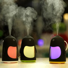 Wholesale Fogging Oil - Car penguin USB Aromatherapy diffuser essential oil diffuser air humidifier for home air Aroma diffuser mist maker fog maker