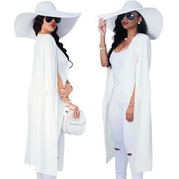 Wholesale Short Jackets For Women - Women blazers and jackets 2017 New Long Blazers For Ladies cape coat suit OL blazer jackets balck white cape blazer