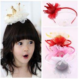 Wholesale Imperial Crown Dress - Wholesale- 1 Pc Lovely Princess Imperial Crown Headband Baby Girl Hair Accessories Tiara Hairbands Newborn Baby Bling Head Dress Turban