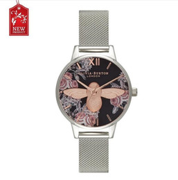 Wholesale Girl Hour - 2017 Brand Diamond Hours clock female Ladies full steel mesh Silver Dress Women girl Quartz Watches Bracelet Wristwatch