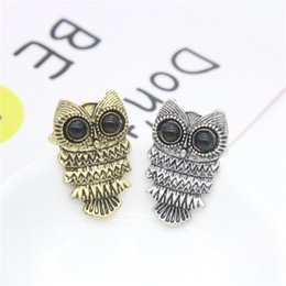 Wholesale Bronze Owl Ring - Jmyy Jewelry New Vintage Owl Rings Alloy Bronze Silver Color Rings For Women Party Jewelry Gift