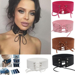 Wholesale Sexy Women Tied Up - Velvet Tie Up Wide Choker Necklace Gothic Suede Collar Sexy Women Neck Jewelry Denim Velvet Choker Necklace