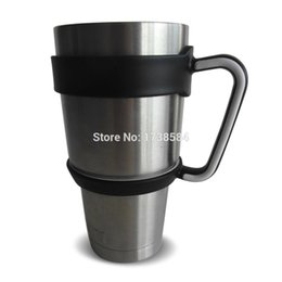 Wholesale Wholesale Plastic Travel Cups - Wholesale- plastic handle for 30oz yeti rambler tumbler,portable handle fit insulated travel mug,stainless steel cup with handle