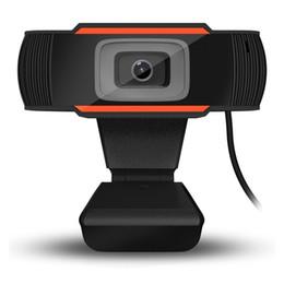 Wholesale Laptop Computer Cameras - New 8x3x11cm A870C USB 2.0 PC Camera 640X480 Video Record HD Webcam Web Camera With MIC For Computer For PC Laptop Skype MSN