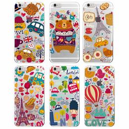 Caso iphone londres on-line-Bonito Outono Inverno Quente Londres Paris Gato Coruja BGuette Macio TPU phone case para iphone 7 7 plus 6 6 s 6 plus 8 8 mais x
