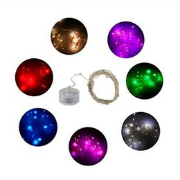 Wholesale pink decorated christmas tree - CR2032 Button Battery 2M 20LED Cooper LED String Lights Battery Led Fairy Light For Christmas Party Decorate
