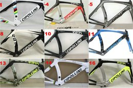 Wholesale Carbon Frame Set - 3K 1K Carbon road frameset MCipollini RB1000 Frame fork headset seatpost painting carbon bicycle frame set
