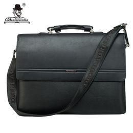 "Wholesale Messenger Bag 13 Men - Wholesale- DIOULAORENTOU 13"" Laptop Mens Briefcase 2017 Pu Leather Flap-over Handbag Business Messenger Men Bags Briefcase Cross Body Bag"