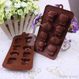 Wholesale Lion Mold - Vorkin 1XCute 3 Styles Animals Silicone Baking Ice Chocolate Mold Cookie Muffin Decorating Mould Lion DIY Free Shipping