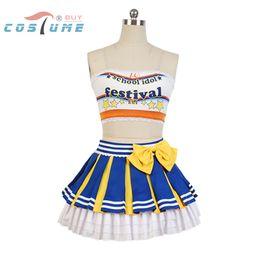 Wholesale Men Strapless - LoveLive! Love Live Eli Ayase Cheerleaders Uniform Strapless Skirt Swimsuit Anime Halloween Cosplay Costumes For Women Girls