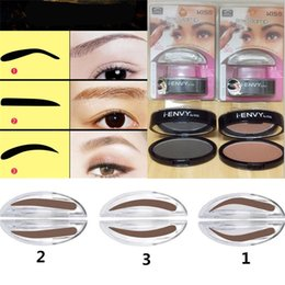 Wholesale Eye Shadow Palette Brown - Brow Stencils Eye Brow Stamp I ENVY BY KISS Eyebrow Powder Seal Makeup Eyes Brow Stamp Palette Delicated Eye Shadow