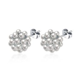 Wholesale Candy Silver Balls - Candy Ball Sweet Pearl Earrings